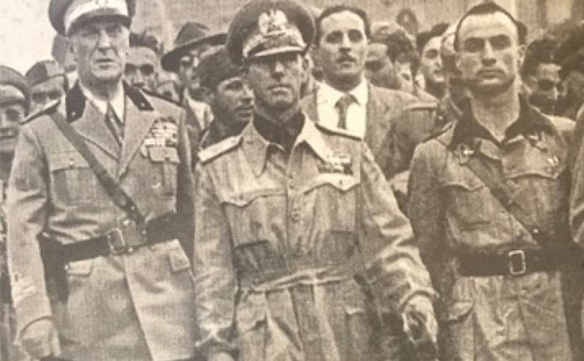 Foto tratta da «Storia Verità»: da sinistra, Rodolfo Graziani, Renato Ricci e Dante Ciabatti